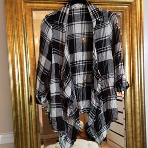 2 for $15, Open front Juniors flannel cascade